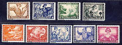 Deutsches Reich 1933 Wagner Mi# 499-507 (*)  FÄLSCHUNG