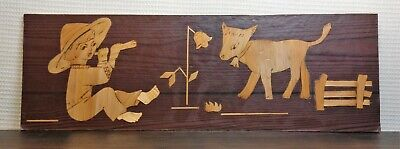 Vintage Wooden Panel Wall Picture Souvenir 1978 Year USSR Soviet UK