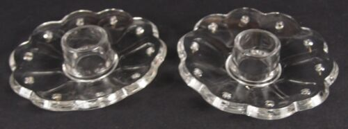 2 Heisey No. 300 Bobeches for Candelabras, Candlesticks, or Candleholders