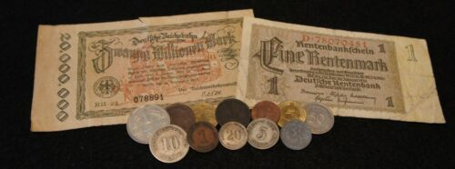 German Mixed Lot Coin & Currency Including SILVER &1800