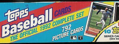 1992 TOPPS BASEBALL COMPLETE OPENED FACTORY CHRISTMAS SET 1-792 - Baseball Christmas