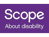 Work for Scope! Street Fundraising - Weekly Pay, Immediate Start! £9.50+ph!