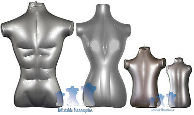 Inflatable Mannequin - Standard Family Package Silver