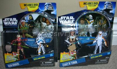 Star Wars Clone Walmart Exclusive DVD 2-Packs Legacy Of Terror & Brain