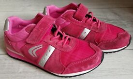 GIRLS CLARKS TRAINERS, size 10 G