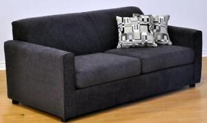 GREY SLEEPER SOFA - RED FURNITURE SALE- RED AND BLACK LIVING ROOM FURNITURE AT KITCHEN AND COUCH (BD-1247)