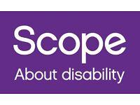 Door to Door fundraiser for Scope! - Immediate Start! (£9.00 per hour)