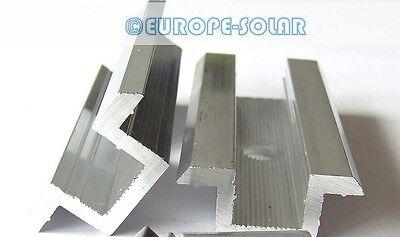 Solar Mittelklemme Schwarz Komplett Befestigungsset Rahmenhöhe 30 35 40 45 Mm Pv Solarenergie Befestigungsmittel