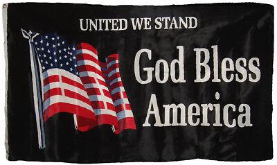 3x5 United We Stand God Bless America Flag House Banner Grom