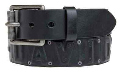 Harley-Davidson Men's Anarchy Rivet Belt, Black Leather Belt - Mens Rivet