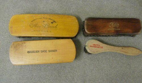 Shoe brush group of 4 Vintage Warranted, Cavalier, Fuller, Griffin Shine Master