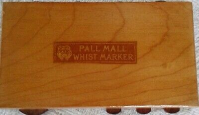 Whist Marker Dating from the 1920's Named Pall Mall in Light Wood