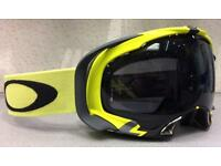 Oakley Splice Snow Goggle Flight Series Lime Green with Grey Lens BNIB