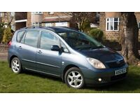 2002/52 TOYOTA COROLLA VERSO D4D T–SPIRIT - TOP SPEC. Diesel, Long MOT, Owned 9 Years