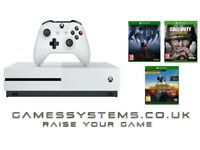 Brand New Xbox One S 500GB Console with Prey Call of Duty: WWII & PUBG for just £269.99!