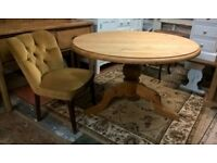 Solid Waxed Pine Round Dining Table *DELIVERY POSS* Farmhouse Kitchen Shabby Chic (not oak)
