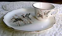 Vintage Georgian-Mallards 2 Pc Luncheon Plate Set
