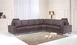 Contemporary Genuine Leather Sofa Sectional Couch STOCKHOLM