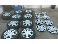 Alloys + wheel trims vauxhall peugeot sri astra 306 d turbo rims 406