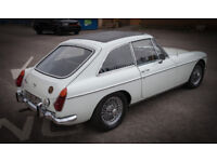 MGB GT 1972 Old English White, Brand new full paintwork and brand new interior