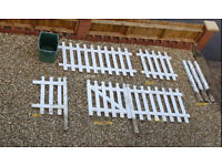 White Picket fence with gate and 5 posts - £70