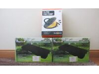 2 x Brand new and in Box, Regatta flocked single airbeds and 5 Litre Footpump