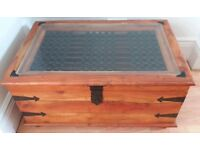 Jali style sheesham coffee table / blanket chest / toy chest