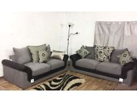 New Hepburn black and grey 3+2 seater**Free delivery**