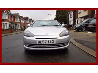 2008 Hyundai Coupe 2.0 SIII SE 3dr -- Hpi clear -- Shiny silver -- Full Leather -- Service History