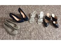 Four pairs of size 5 shoes