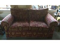 John Lewis Rust Patterned 2/3 Seater Fabric Sofa