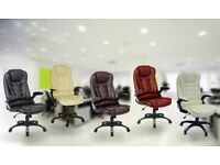 Brand New Office Chair Swivel Leather with Tilt and Reclining Function Brand New Executive