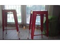 MEtal Red Kitchen/Breakfast bar stools