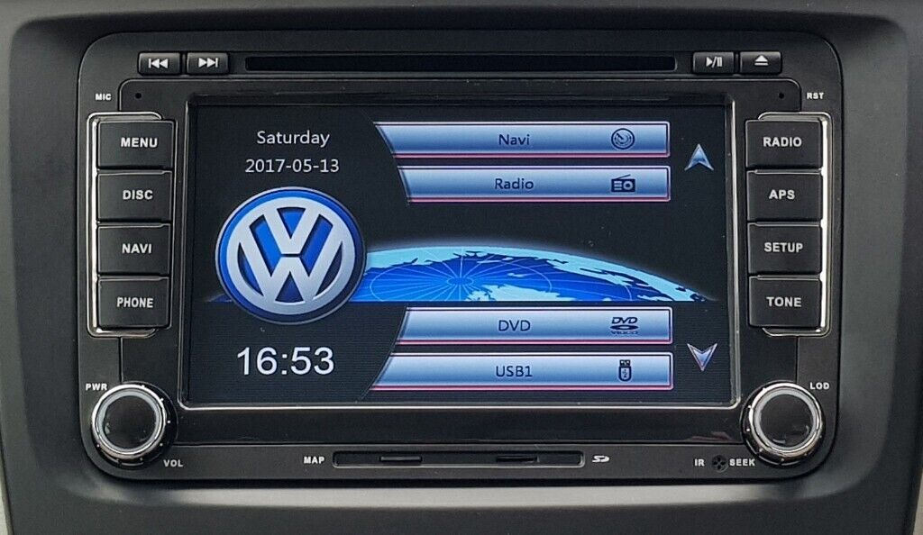 BRAND NEW RNS510 STYLE HD DVD GPS SAT NAV 7 INCH VW PASSAT GOLF MK5 6 T5  BLUETOOTH/DVD/USB/SD/CANBUS   in Leicester, Leicestershire   Gumtree