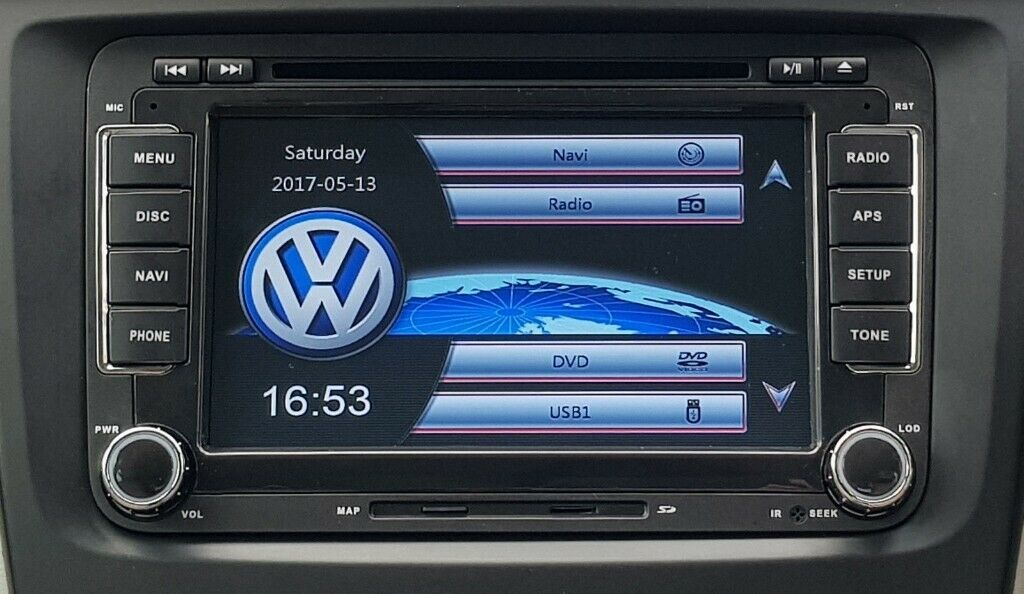 BRAND NEW RNS510 STYLE HD DVD GPS SAT NAV 7 INCH VW PASSAT GOLF MK5 6 T5  BLUETOOTH/DVD/USB/SD/CANBUS | in Leicester, Leicestershire | Gumtree