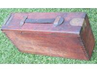 Vickers Machine Gun, .303, No.1, Mark II Teak ammunition box. (PRE or EARLY WW1), used for sale  Poynton, Manchester