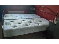 6' Superking Size Bedframe With Zipped Mattresses