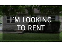 Looking to rent 1/2 bed