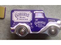 Cadbury fingers Van buscuit tin (empty) x4