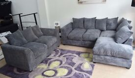 1 YEAR WARRANTY | NEW DYLAN JUMBO GREY CORNER SOFA | EXPRESS DELIVERY ALL UK | SPRING BASE