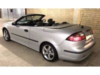 Extra extra nice Saab 9-3 Convertible 1.8 Turbo Silver with unmarked grey leather