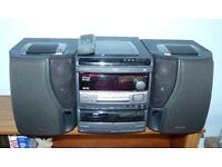 Aiwa NSX-V900 Mini HiFi Component System With remote 3 CD player / dual cassette player / radio