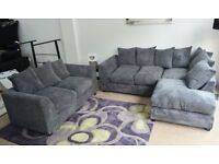 BRAND NEW- Dylan Jumbo Cord Corner Sofa Suite or 3 and 2 Set - SAME/NEXT DAY DELIVERY!