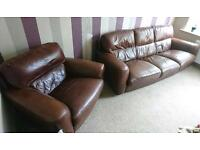 3 seater and single seater leather
