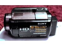 Sony Handycam HDR-XR200VE 120 GB Camcorder, Sony HD camcorder in box with built-in GPS.