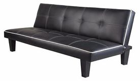 **14-DAY MONEY BACK GUARANTEE!** Premium Leather 3 Seater Sofa Bed Sofabed - SAME DAY DELIVERY!
