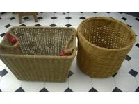 2 Baskets for Laundry / Bottles/ Hamper
