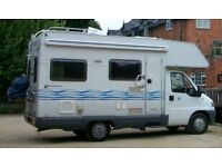 4 berth motorhome Fiat Ducato 1.9 TD only 47,450 miles - MOT until Feb 2019