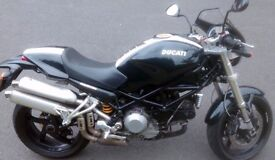 Black 2008 Ducati Monster S2R 1000cc, in good condition, 7500 miles
