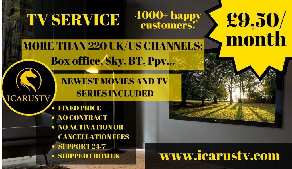 TV SERVICE FOR £9/month, GUARANTEED SATISFACTION! 1800 Live TV Channels,  Movies and TV Shows, Sports   in Sheffield, South Yorkshire   Gumtree
